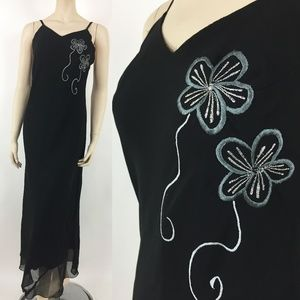 Hokus Pokus Womens Maxi Dress Size Medium Party